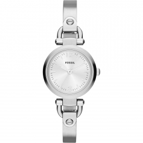 FOSSIL woman watch hard steel with. silver Georgia Mini 26mm ES3269