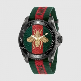 GUCCI man watch DIVE 20ATM strap fabric 45mm YA136216