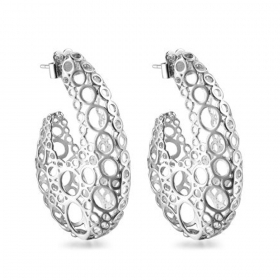 Pianegonda earrings DIATOM 925 silver machined PDI21