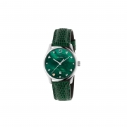 Gucci woman watch Gucci G Timeless mother-of-pearl Green ya126585