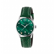 GUCCI watch women's G-Timeless green case steel 36mm swiss made ya1264042