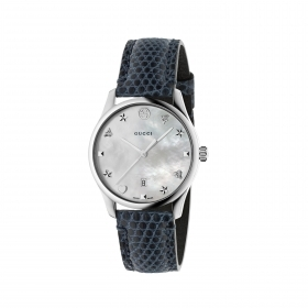 GUCCI g-Timeless watch blue mother-of-pearl swiss made 36mm ya1264049