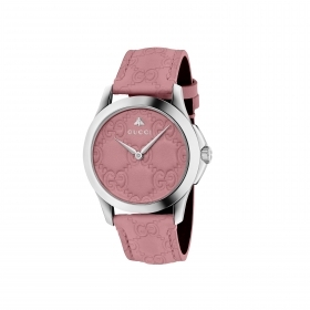 "Gucci watch women's G-Timeless pink 38mm plot ""G"" swiss made ya1264030"
