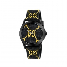 Gucci watch unisex g-Timeless rubber black pvd 38mm ya1264019