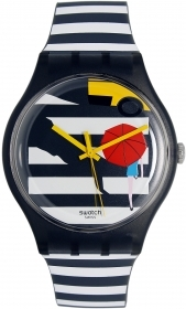 Swatch unisex 41mm summer cross the path SUOM108