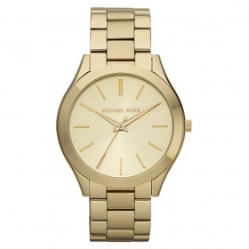 Michael Kors Watch Runway slim stainless steel tone gold MK3179
