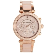 Michael Kors Watch Parker shades, rose gold and acetate blush MK5896
