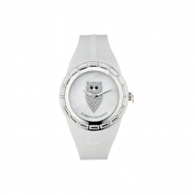 Giannotti watch the Night Time silicone white owl OMN100
