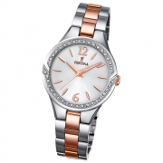 Festina woman watch stainless steel rose Mademoiselle zircons F20247/1