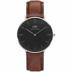 Daniel wellington watch is 36mm unisex classic black St. Mawes silver DW00100142