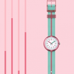 Flik Flak watch girl PINK BAND FPNP020