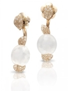 Pasquale Bruni earrings PETIT SECRET pink gold quartz milky diamonds 15457R