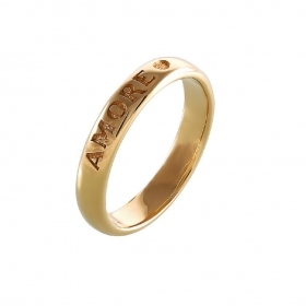 Pasquale Bruni ring love yellow gold measures 20 13445gx