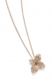 Pasquale Bruni necklace petit garden pink gold, white diamonds and champagne 15367R