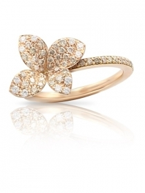 Pasquale Bruni ring petit garden pink gold, white diamonds and champagne 15380R