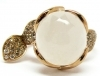 Pasquale Bruni ring petit secret no.14 rose gold diamond quartz milky 15465R