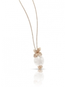 Pasquale bruni necklace petit secret pink gold diamonds quartz milky 15463R
