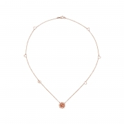 Gucci necklace flora 45 cm rose gold diamonds 0.05 YBB434446001