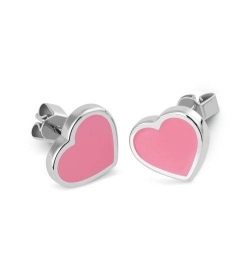 Swatch earrings LOVEMEDO steel pink heart JEP016