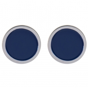 Swatch earrings COLORTWIST steel round blue JES023