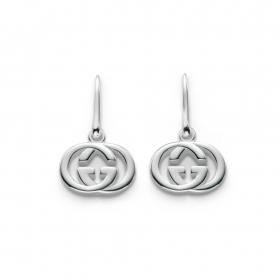 Gucci earrings with interlocking G pendants woman silver YBD223321001