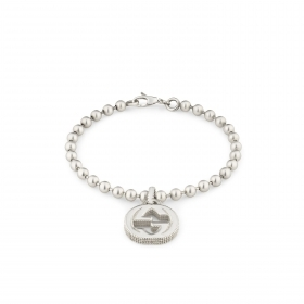 Gucci bracelet with silver pendant double G interlocking mis. 18cm YBA479226001