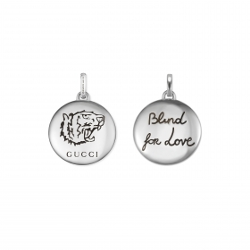 Gucci-anhänger, silber, blind for love tiger YBG455273001