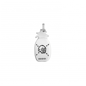 Gucci pendant silver ghost pineapple double g YBG455269001