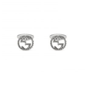 Gucci cufflinks mens silver interlocking double G YBE455305001