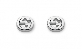 Gucci earrings in silver fixed with double G gift idea YBD356289001