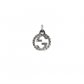 Gucci pendant silver interlocking double G YBG455288001