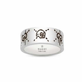 Gucci silver ring Gucci Ghost band 9mm double G mis.14 YBC455318001