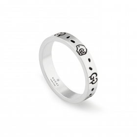 Gucci silver ring Gucci Ghost band 6mm mis. 16 YBC477339001