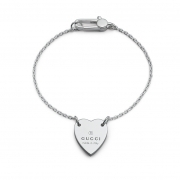 Gucci silver bracelet with heart trademark 17cm gift idea YBA223513001