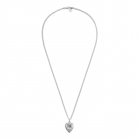 Gucci silver necklace pendant heart Gucci Ghost YBB455540001