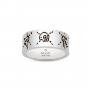 Gucci silver ring Gucci Ghost band 9mm mis.24 YBC455318001