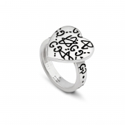 Gucci silver ring mis.13 Gucci Ghost heart Double g YBC457229001