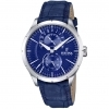 Festina watch multifunctional men leather blue day/date F16573/7