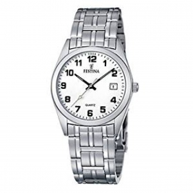 Festina watch classic man with date display, a numeric index steel F8825/4