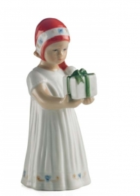 Royal Copenhagen Elsa with gift mini 13cm Figurines 5021091