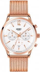Henry London unisex richmond chrono steel rose date HL41-CM-0040