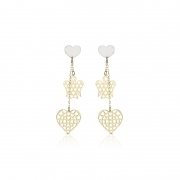 Roberto Giannotti earrings yellow gold 375/000 angel heart NKT228