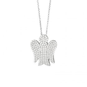 Roberto Giannotti necklace with silver cubic zirconia angel GIA147
