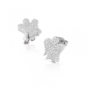 Roberto Giannotti earrings silver cubic zirconia angel GIA286