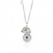 Roberto Giannotti necklace with silver, cubic zirconia crystals called angels SFA104