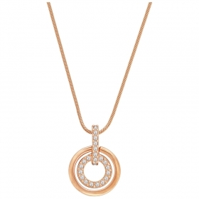 Swarovski collna circle gold-plated rose 1081976
