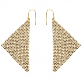 Swarovski earrings fit gold-pl