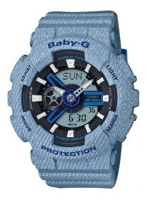 Casio baby-g denim chrono led,
