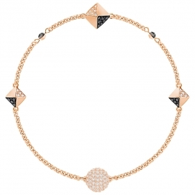 Swarovski bracelet remix black and white with pink gold-plated 5352537