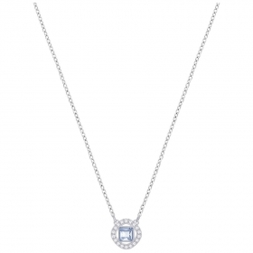 Swarovski necklace angelic square blue rhodium plating 5368147